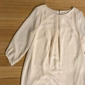 H&M Light Pink Silky Long-Sleeve Dress NWT